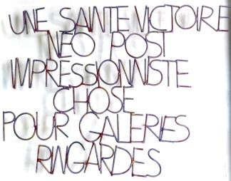 Max Sauze - Une Sainte Victoire - 1986